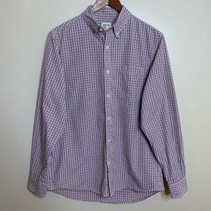 3/$20 Old Navy Orange Blue Plaid Button Down Shirt